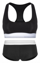 WCK10 High Quality women's sports bra & brief set underwear ; training running swim bralette boyshort tube top bras for women